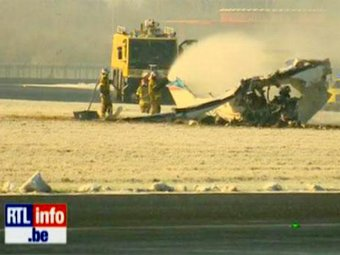 5 человек погибли в результате крушения самолета в Бельгии