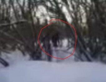 Кемеровские школьники засняли на видео снежного человека