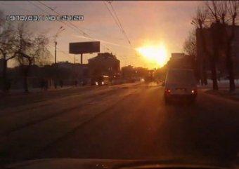 Уфологи представили видео: метеорит над Челябинском сбил НЛО