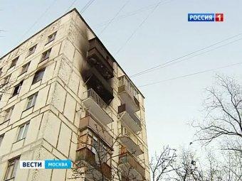 В Москве, дети выжили при падении с 7-го этажа, спасаясь от пожара