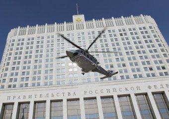 Медведев впервые улетел домой с работы на вертолете
