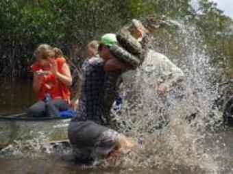 В США гид убил гигантского питона, спасая туристов