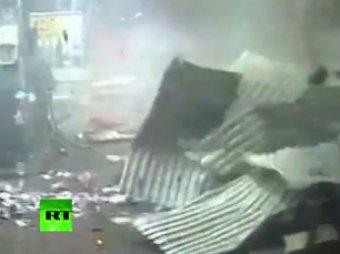 В Англии воры взорвали банкомат на автозаправке