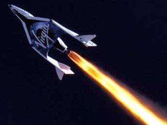 Ракета SpaceShipTwo для космических туристов впервые преодолела звуковой барьер