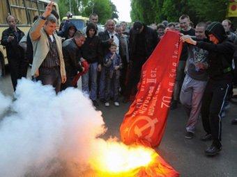 На Западе Украины День Победы объявили днем траура