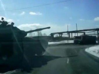 В Нижнем Тагиле водители снова жалуются на танки, нарушающие ПДД