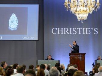 "На аукционе Christie""s редкий бриллиант продан за рекордные ,7 млн"