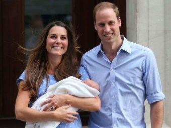 В СМИ появились первые фотографии британского принца Джорджа