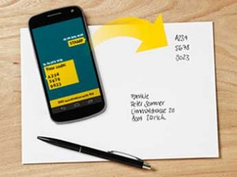 Почта Швейцарии заменила марки на SMS-коды