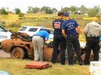 В США нашли автомобили с шестью скелетами, 50 лет пролежавшими на дне озера
