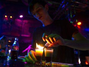 В Москве горящий коктейль чуть не сжег посетителей ресторана