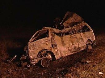 Автобус с мигрантами попал в огненное ДТП под Самарой, 13 погибших