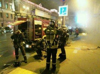 В центре Москва произошел пожар в подземном коллекторе: движение парализовано
