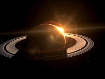 """Cassini сфотографировал """"шестигранный шторм"""" на Сатурне"""