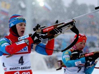Биатлонистка Вилухина завоевала для России вторую медаль в Сочи, выиграв серебро в спринте