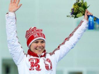 Ольга Граф рассказала, почему расстегнула костюм на финише (ФОТО, ВИДЕО)