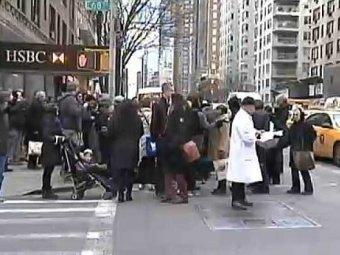 Американка родила прямо на пешеходном переходе в Нью-Йорке