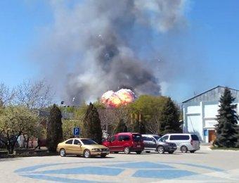 Ситуация на Украине, новости на 25.04.2014: в Краматорске взорвался вертолет Ми-8 (ВИДЕО)