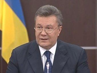 Янукович в обращении к украинскому народу: Украина одной ногой вступила в гражданскую войну (ВИДЕО)