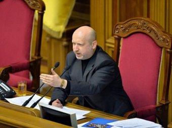 Турчинов отказался говорить с ополченцами: в вооруженных людей будут стрелять на поражение