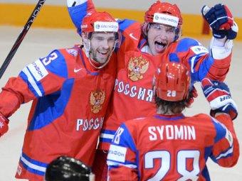 Владимир Путин выпил шаманского с хоккеистами, победившими в ЧМ-2014
