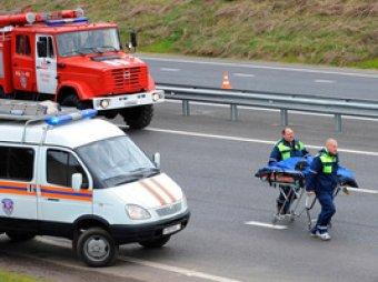 В Ленобласти маршрутка влетела в грузовик: пострадали 14 человек