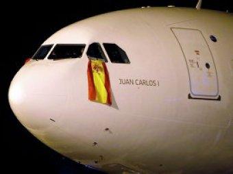 В самолёт сборной Испании по футболу ударила молния