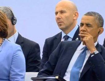 Обама уснул во время речи президента Польши