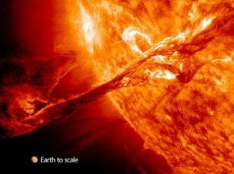 Ученые NASA засняли грандиозное извержение на Солнце