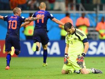Испания - Нидерланды - счет 1:5: первая сенсация на ЧМ-2014 (ВИДЕО)