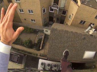 Видео прыжка мужчины с крыши стало хитом YouTube