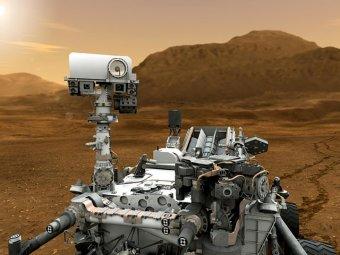 Блогеры разглядели на новых снимках марсохода Curiosity НЛО