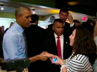 Барак Обама заплатил  за очередь в техасской закусочной