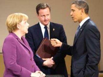 """Меркель, Кэмерон и Обама обсудили крушение """"Боинга"""" и новые санкции против РФ"""