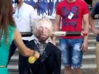 """Украинских детей заставляли водить хоровод вокруг горящего """"Владимира Путина"""""""