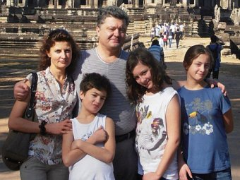 Семья Порошенко облилась ледяной водой