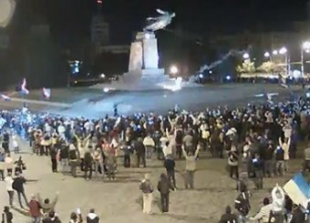 Новости Украины 29 сентября 2014: в Харькове националисты разрушили самый большой на Украине памятник Ленину