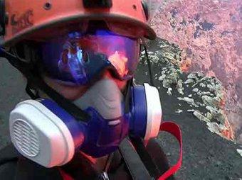 Американские учёные сняли уникальные кадры внутри вулкана