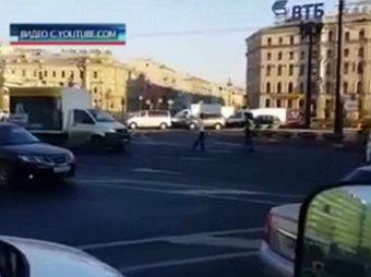 В Сети появилось видео с перестрелкой в центре Петербурга