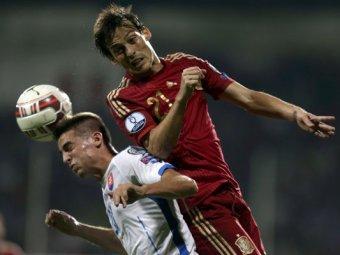 В матче Евро-2016 сборная Испании уступила Словакии (видео)