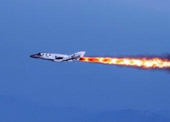В США разбился туристический космический корабль компании Virgin Galactic