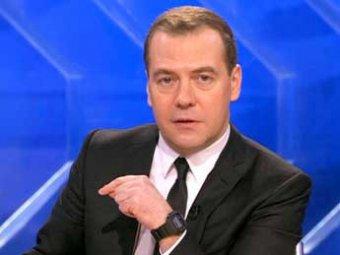 Медведев готовится в прямом эфире рассказать россиянам про курс рубля