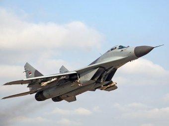 В Подмосковье в 100 метрах от школы рухнул истребитель МиГ-29
