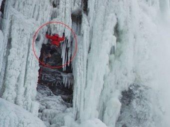 Альпинист из Канады покорил замерший Ниагарский водопад