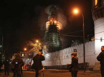 Новодевичий монастырь в Москве едва не сгорел (видео)