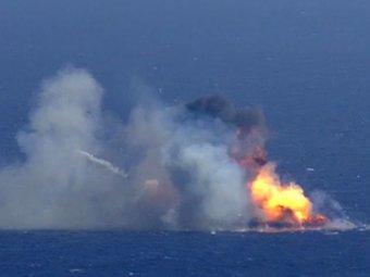 В Сети появилось видео взрыва первой ступени Falcon 9