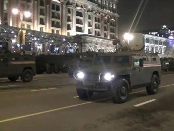 Репетиция парада Победы 2015 в Москве прошла минувшей ночью (фото, видео)