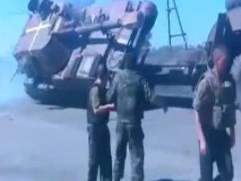 В Сети появилось ВИДЕО неудачной погрузки украинской САУ на трал