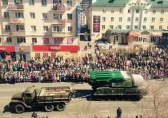 В Чите на параде Победы загорелась ракетная установка «Бук» (видео)
