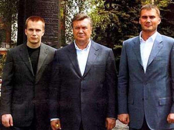 На Украине заблокировали около  млн на счетах семьи Януковича